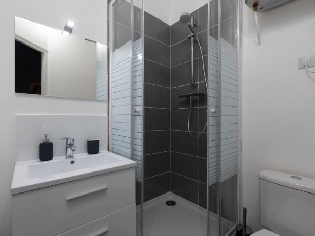 salle de douche refait à neuf studio Lyon quartier Montchat