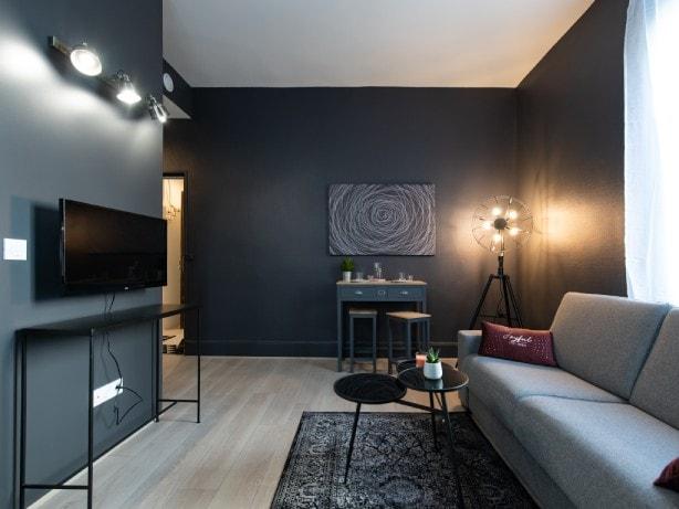 studio deux personnes séjours professionnels à Lyon - décoration contemporaine et design